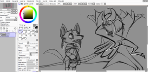 1 Layer Drawing WIP by Annchyka