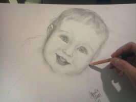 working on my first baby portrait ever by tonez2