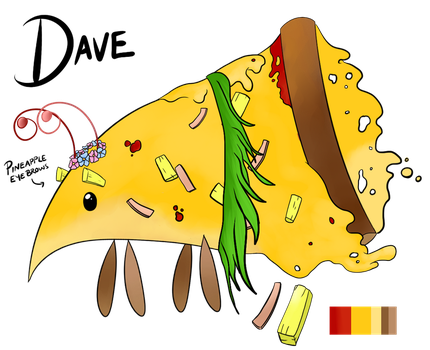 Dave the pizza bug by Meeka-Moo