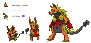 Fakemon Fusion Fire/Dragon by Eternity9