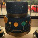 Space wedding cake by thesearejessicakes