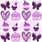 Seamless Cupcake Background by mahyanp