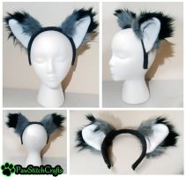 Grey Fox Headband by CalicoSarah