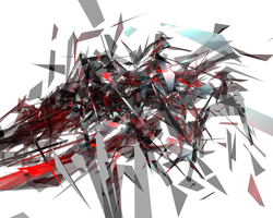 Red Sheared Explosion C4D by KrazyKazza