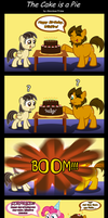 The Cake is a Pie (birthday present for Sibsy) by AleximusPrime