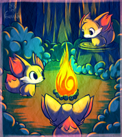 Around the Fire by Twime777