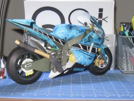 yamaha m1 blue flames recolor by terrorsound
