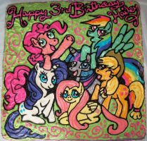 My Little Pony Cake by marandaschmidt