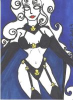ACEO-ATC Lady Death by MindOfPain