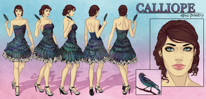 Calliope - Character Reference Sheet by tbdoll