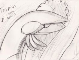Charcoal Tropius 5/10/2013 by Jacklave