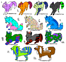 Dog Things Adopts XD (7 Left) by ToxicSkullie027