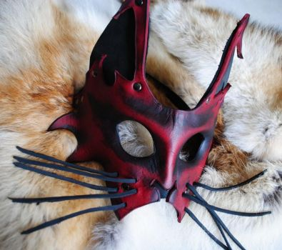 Hi No Neko Leather Mask by Epic-Leather
