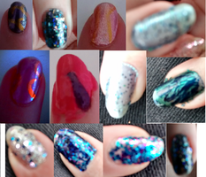 Nail Art Collage by Dragonshadow3