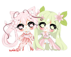 Chibi commission for RoweniiChan by Miyee