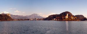 Panoramic view - lake Bled with its surroundings by luka567