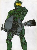 Master Chief John-117 by i-am-thomas