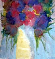 Blue n red flowers by limegreenguitar