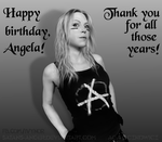 Angela Gossow Birthday Portrait 2014 by satans-anger