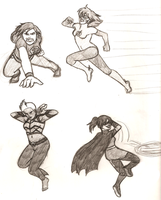 GB Young Justice Action Poses by Gemkio