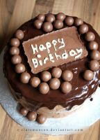 Chocolate and Malteser Cake by claremanson