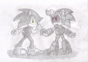 awesome pic of Jules and Sonic by LeniProduction