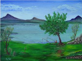 Oil_on_canvas_landscape by polygonic-painter
