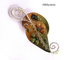 Chlorophyll, the Pendant 2, Back Side by Alkhymeia