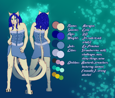 Karagen Ref Sheet - Commission by talonian