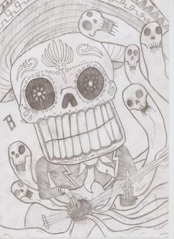 mexican skull by dutchyEDD