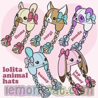 Animal Lolita Hats! by lemonbrat