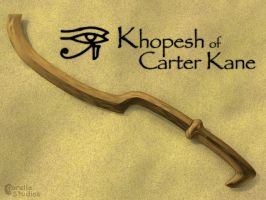 Khopesh of Carter Kane by CorellaStudios