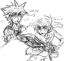 KH Sora meets Hiccup by spock-sickle