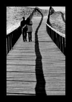 Lovers walking by eXcer