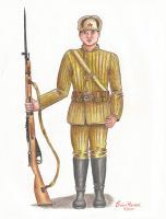 Red Army Infantryman by stopsigndrawer81