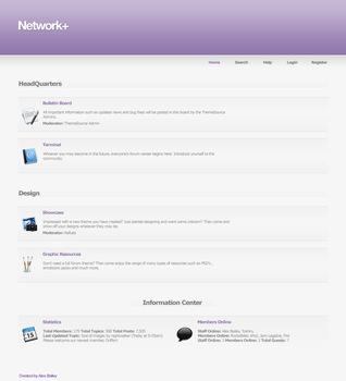 Network+ forum design by system16