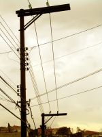 power lines by luciotamino