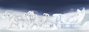 Snow queen sleigh by Meykka