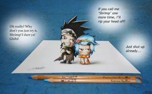 Gajeel And Levy - 3D Art by InlineSpeedSkater