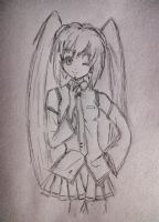 Hatsune Miku Drawing by hollyvalance