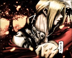 Edward Elric, The Iron Fighter by Alkyum
