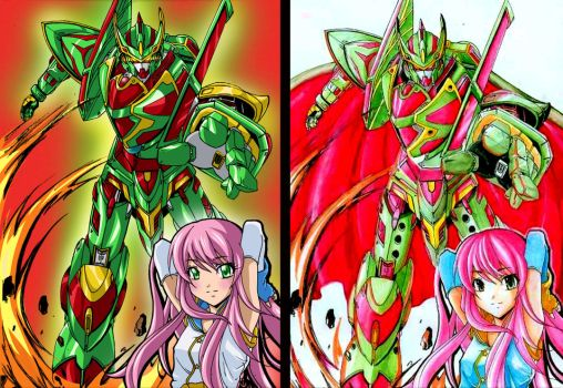 my drawing after and before comparisson.. by power-f