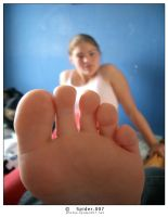My sisters foot by spider007