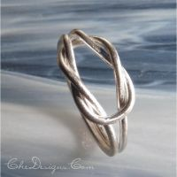 Large Knot Ring in Sterling Silver by che4u