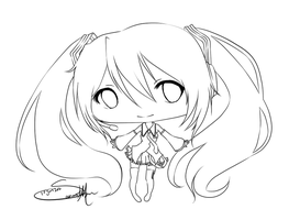 Chibi Commission lines by Koike-sama