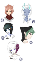 More Headshot Adopts  [40-100point]  TAKEN- by Voodoo-Elf