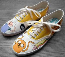 Adventure Time Shoes 2 II by Misfit-Mistress