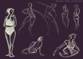 CDW life drawing class week 2 by therealarien