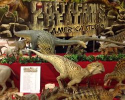 Cretaceous Creations Booth by Legrandzilla