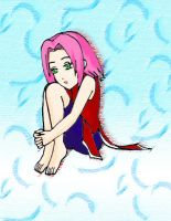 Lonely _Sakura_Colored by Galsgirl